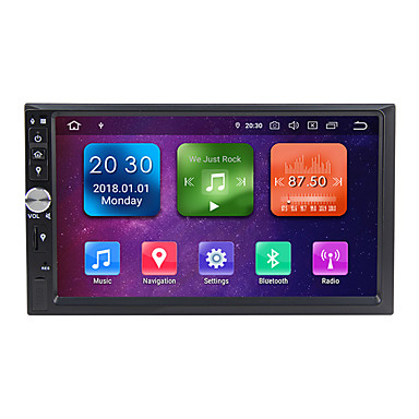 cheap Car DVD Players-Factory OEM WG7092S-IPS 7 inch 2 DIN Android 9.0 In-Dash Car DVD Player / Car GPS Navigator GPS / Built-in Bluetooth / RDS for Universal / universal RCA Support MPEG / AVI / MPG MP3 / WMA / WAV GIF