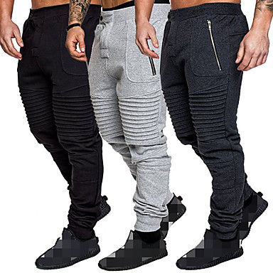 cheap Exercise, Fitness & Yoga-Men's Sweatpants Joggers Jogger Pants Track Pants Sports & Outdoor Athleisure Wear Bottoms Drawstring Winter Running Jogging Training Breathable Moisture Wicking Soft Sport Dark Gray Gray Solid
