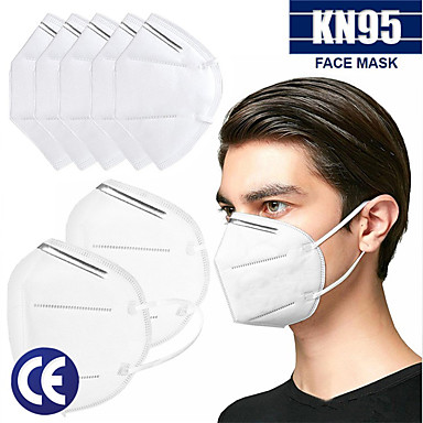 cheap Personal Protection-20 pcs KN95 Face Mask Respirator Protection In Stock Melt Blown Fabric Filter White