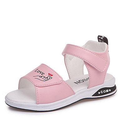 cheap Kids' Sandals-Girls' Comfort Synthetics Sandals Little Kids(4-7ys) White / Black / Pink Summer