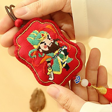 cheap Bag Parts & Accessories-Ping An character handmade diy material package national wind wake lion sachet car hanging Ping An Fuho package send unique mother's day gift