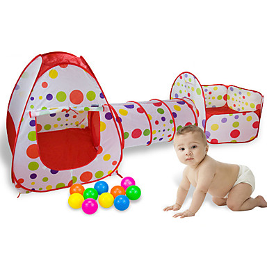 cheap Outdoor Fun & Sports-Play Tent & Tunnel Playhouse Tent Pretend Play Kids Play Tent Kids Tent Outdoor Foldable Convenient Novelty Polyester Nylon Indoor Outdoor Spring Summer Fall 2 years+ Boys' Girls' Pop Up / Kid's