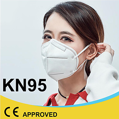 20 pcs KN95 CE EN149:2001 Standard Mask Breathing Mask Respirator CE Certification Disposable Protective White / Filtration Efficiency (PFE) of >95%
