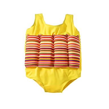 abordables Maillots de Bain pour Fille-Bébé Fille Actif Basique Couleur Pleine Sans Manches Maillot de Bain Jaune