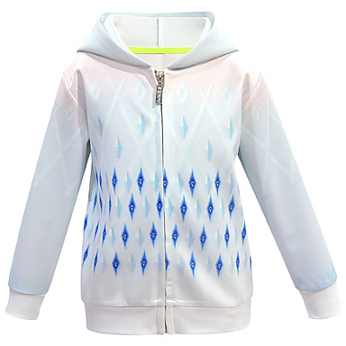 cheap Girls' Jackets & Coats-Kids Girls' Basic Sophisticated Geometric Regular Jacket & Coat Rainbow
