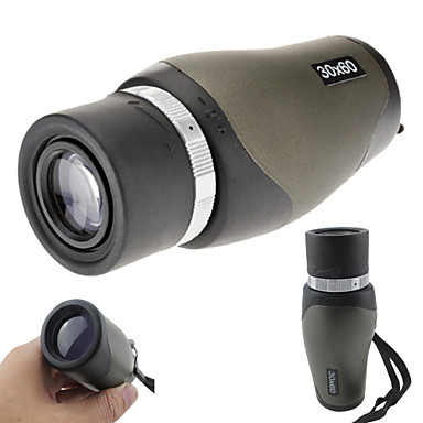 cheap Binoculars, Monoculars & Telescopes-LBN® 30 X 60 mm Monocular Porro Professional, Compact Size, High Quality Hunting, Climbing, Camping / Hiking / Caving Rubber Aluminium Alloy / Yes