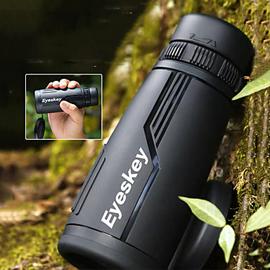 cheap Binoculars, Monoculars & Telescopes-Eyeskey 10 X 42 mm Monocular Roof Outdoor Night Vision in Low Light Portable Shockproof 98.1 m Fully Multi-coated BAK4 Camping / Hiking Hunting and Fishing Camping / Hiking / Caving Metalic / IPX-7