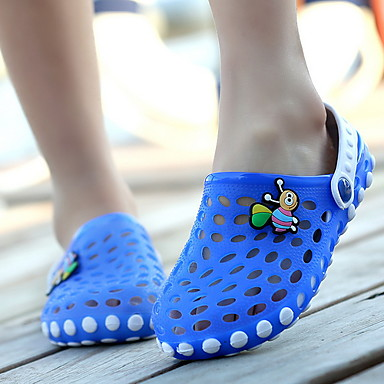 cheap Kids' Slippers-Boys' Comfort PVC Slippers & Flip-Flops Little Kids(4-7ys) Red / Pink / Blue Summer