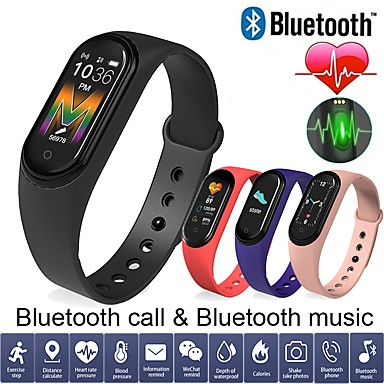 cheap Smart Wristbands-LM5 Smart Bracelet Heart Rate Monitor Wristband Blood Pressure Fsleep Monitoring Bluetooth Call Watch PK Mi 4 Band for Huawei Android IOS