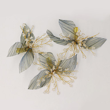 cheap Party Headpieces-Sweet Style Pastoral Style Chiffon / Crystal / Alloy Hair Clip / Hair Accessory with Crystal 1pack Wedding / Party / Evening Headpiece