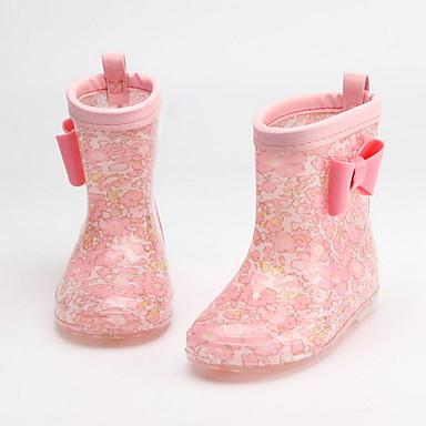cheap Kids' Boots-Boys' / Girls' Rain Boots PVC Boots Little Kids(4-7ys) Denim Blue / Yellow / Fuchsia Spring