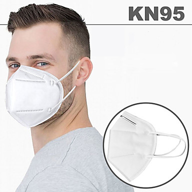 cheap Face Masks-20 pcs KN95 Face Mask Respirator Protection Melt Blown Fabric Filter High Quality White / Filtration Efficiency (PFE) of >95%
