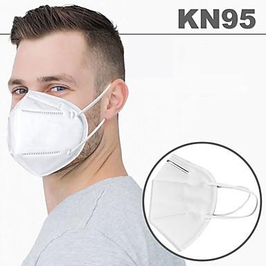 baratos Proteção pessoal-20 pcs KN95 Máscara falsa Respirador Protecção Filtro de tecido fundido por fusão Alta Qualidade Branco / Eficiência de filtragem (PFE) de> 95%
