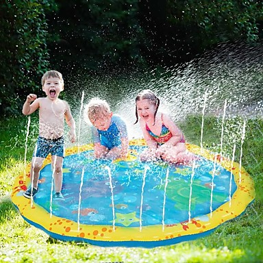 cheap Inflatable Ride-ons & Pool Floats-Splash Pad Sprinkler for Kids Inflatable Pool Float Inflatable Pool Water Hammock Drifter Pool Hammock Outdoor Portable PVC(PolyVinyl Chloride) Summer Outdoor Pool 1 pcs Unisex Kids Teenager