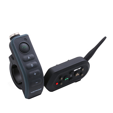 EJEAS E200 New Motorcycle Handsfree Helmet Intercom Bluetooth Interphone Headsets for 2 riders 300M Wireless Intercomunicador E200-MN