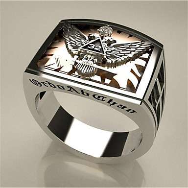 cheap Rings-Men Women Ring 1pc Silver Copper Square Stylish Gift Festival Jewelry Classic Eagle Environmental