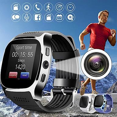 olcso Ékszerek&Karórák-T8 Uniszex Intelligens Watch Bluetooth Szívritmus monitorizálás Vérnyomásmérés Sportok Hosszú készenléti idő Edzésnapló Stopper Dugók & Töltők Lépésszámláló Hívás emlékeztető Alvás nyomkövető