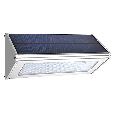 cheap Electrical Equipment & Supplies-outdoor Aluminum triangle Shape Solar Radar sensor light IP65 solar led garden light Waterproof wall light