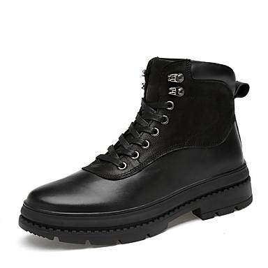 cheap Men's Boots-Men's Summer Outdoor Boots PU Non-slipping Black