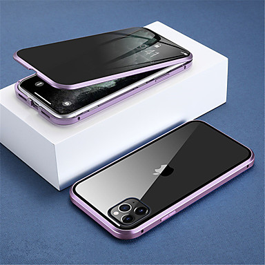 cheap iPhone Cases-Anti-peep Magnetic Case for iPhone 11/ 11Pro Case Anti-Peep Privacy Double Sided Glass 360 Protection Magnet Case for iPhone 11 Pro Max Cover