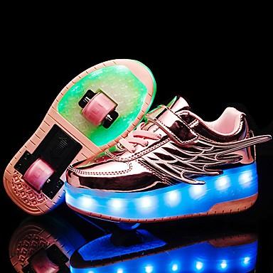 abordables LED Chaussures-Garçon / Fille LED Chaussures / Recharge USB Matière synthétique Chaussures d'Athlétisme Petits enfants (4-7 ans) / Grands enfants (7 ans et +) Noir / Rose / Dorée Automne / Hiver