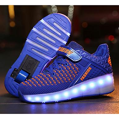 お買い得  キッズ 光る靴-男の子 コンフォートシューズ / USB充電 メッシュ アスレチック・シューズ ビッグキッズ(7年以上) ホワイト / レッド / フクシャ 春