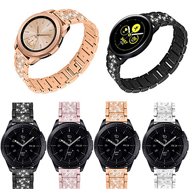 cheap Weekly Deals-Women Diamond Band For Huami Amazfit GTR 47mm Stainless Steel Strap Flower Band Bracelet