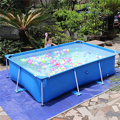 cheap Home & Garden-8.5' x 3.3'Feet Large Above Ground Backyard Swimming Pool Rectangular Frame Large Bracket Oversized Family Children's Pool Home Adult Paddling Pool Thickened Outdoor