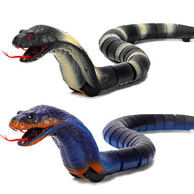 cheap Gags & Practical Jokes-Gags & Practical Joke Gag toys Rattlesnake Toy Snake Animal Cobra Rechargeable Remote Control / RC Halloween ABS Kid's Toy Gift