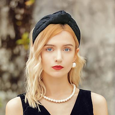 preiswerte Parykopfbedeckungen-Elegant Kopfbedeckungen Polyester Hüte / Kopfbedeckung mit Schleife 1pc Besondere Anlässe / Party / Abend Kopfschmuck