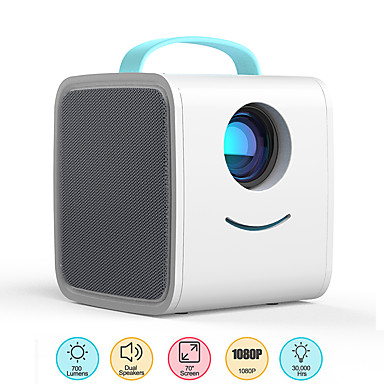cheap Audio & Video-Q2 Mini Projector700 Lumens Portable Projector HDMI USB AV Port Mini LED Projector Home Theater Christmas Gift for Kids Children
