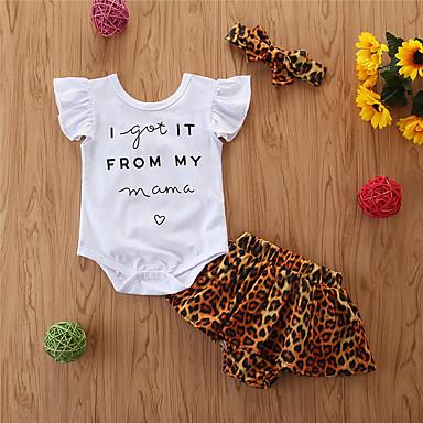 رخيصةأون مجموعات ملابس البيبي-مجموعة ملابس بدون كم لون سادة للفتيات طفل