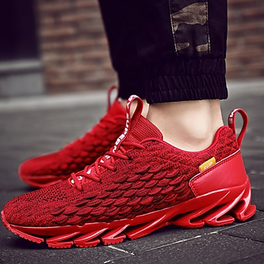 Men's Spring & Summer Classic Daily Trainers / Athletic Shoes Running Shoes Mesh Red / White / Black