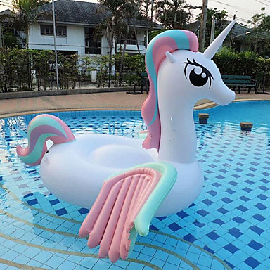 cheap Inflatable Ride-ons & Pool Floats-Inflatable Pool Float Pools & Water Fun Inflatable Pool PVC(PolyVinyl Chloride) Summer Unicorn Horse Pool Kid's Adults'