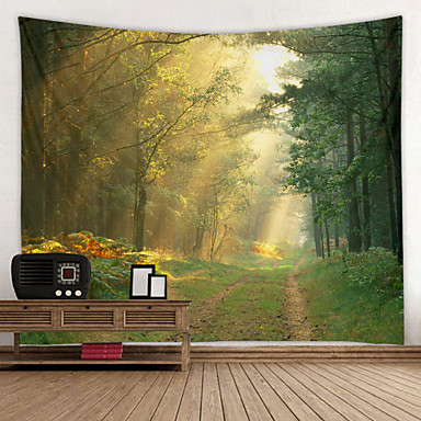 cheap Wall Tapestries-Sunshine Trail Digital Printed Tapestry Decor Wall Art Tablecloths Bedspread Picnic Blanket Beach Throw Tapestries Colorful Bedroom Hall Dorm Living Room Hanging