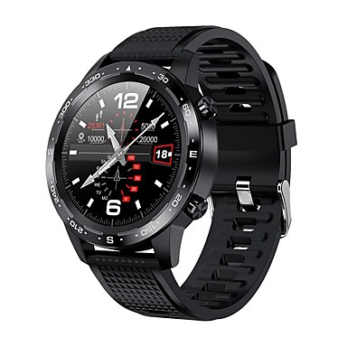 cheap Smartwatches-L12 Long Battery-life Smartwatch for Android/ IOS/ Samsung Phones, Sports Tracker Support Bluetooth Call/ Play Music/ ECG+PPG/ Water-Resistant