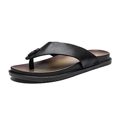 Χαμηλού Κόστους Ανδρικά Παπούτσια-Ανδρικά Καλοκαίρι Καθημερινό Παραλία Σπίτι Παντόφλες & flip-flops Παπούτσια Νερού / Παπούτσια Upstream PU Αναπνέει Φορέστε την απόδειξη Σκούρο καφέ / Λευκό / Μαύρο