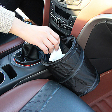 cheap Car Organizers-Portable Folding Oxford Cloth Waterproof Car Garbage Bag Bin Vehicle Trash Can Auto Household Storage Bucket Bag Car Accessories