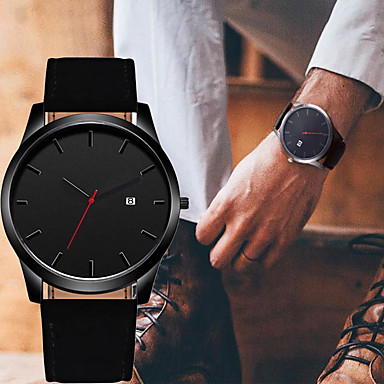 cheap Dress Classic Watches-Men's Dress Watch Quartz Modern Style Stylish Stainless Steel Black / Brown Casual Watch Large Dial Analog Classic Casual - Black Brown One Year Battery Life
