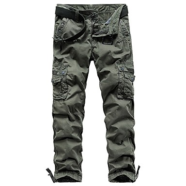 cheap Camping, Hiking & Backpacking-Men's Hiking Pants Hiking Cargo Pants Summer Outdoor Breathable Quick Dry Soft Sweat-wicking Cotton Pants / Trousers Bottoms Running Camping / Hiking Hunting Black Dark Gray Light Grey 29 30 31 32 33