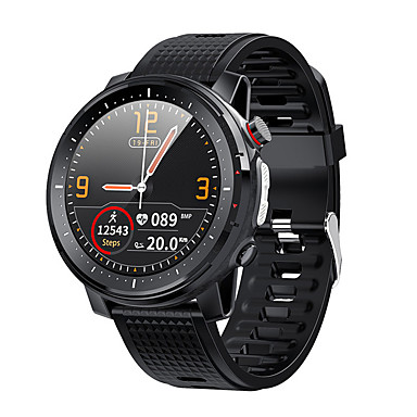 cheap Smartwatches-L15 Smart Watch Men LED Light Full-fit Round Retina Display Music Control Camera Flashlight Smartwatch IP68 Waterproof