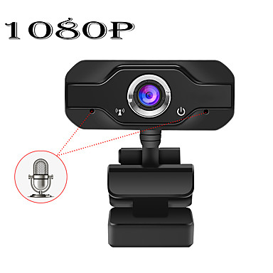 cheap Security & Safety-HD 1080P Web Camera Built-in Dual Mics Smart Webcam USB Pro Stream Camera for Desktop Laptops PC Game Cam For OS Windows 10/8