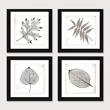 cheap Framed Arts-Framed Art Print Framed Set 4 - Boreal Europe Style Plant Specimens PS Illustration Wall Art
