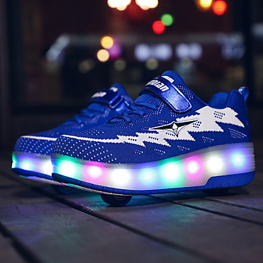 cheap Kids' LED Shoes-Boys' Comfort / USB Charging Mesh Trainers / Athletic Shoes Big Kids(7years +) Pink / Orange / Blue Spring / Summer