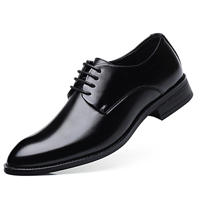 cheap Men's Oxfords-Men's Summer / Fall Classic / Casual Daily Office & Career Oxfords PU Non-slipping Wear Proof Black / Brown