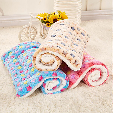cheap Pet Supplies-Dog Cat Pets Bed Stars Warm Soft Durable Casual / Daily Plush Fabric 75*55 cm