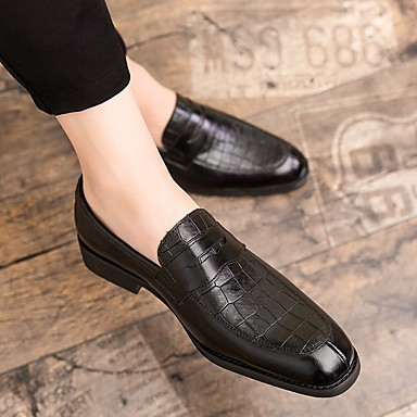 ราคาถูก ของมาใหม่-สำหรับผู้ชาย ฤดูร้อนฤดูใบไม้ผลิ คลาสสิก ทุกวัน รองเท้า Oxfords PU สีเหลือง / สีเขียว / สีน้ำตาล