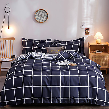 cheap Duvet Covers-Classic bedding set 4 size geometric printing summer bed linen 4pcs/set duvet cover set Pastoral bed sheet AB side duvet cove