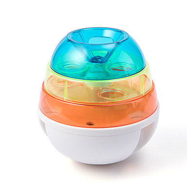 cheap Cat Clothing & Accessories-Ball Interactive Toy Slow Feeder & Treat Ball Dog Cat Pet Toy 1 set Round 360° Rotation Pet Friendly Automatic ABS+PC Gift