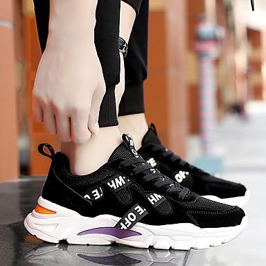 abordables Chaussures de Course Homme-Homme Eté De plein air Chaussures d'Athlétisme Course à Pied Maille Respirable Blanche / Noir / Gris